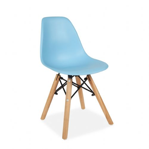 Set of Two Child's Eiffel Style Plastic Chair, Blue